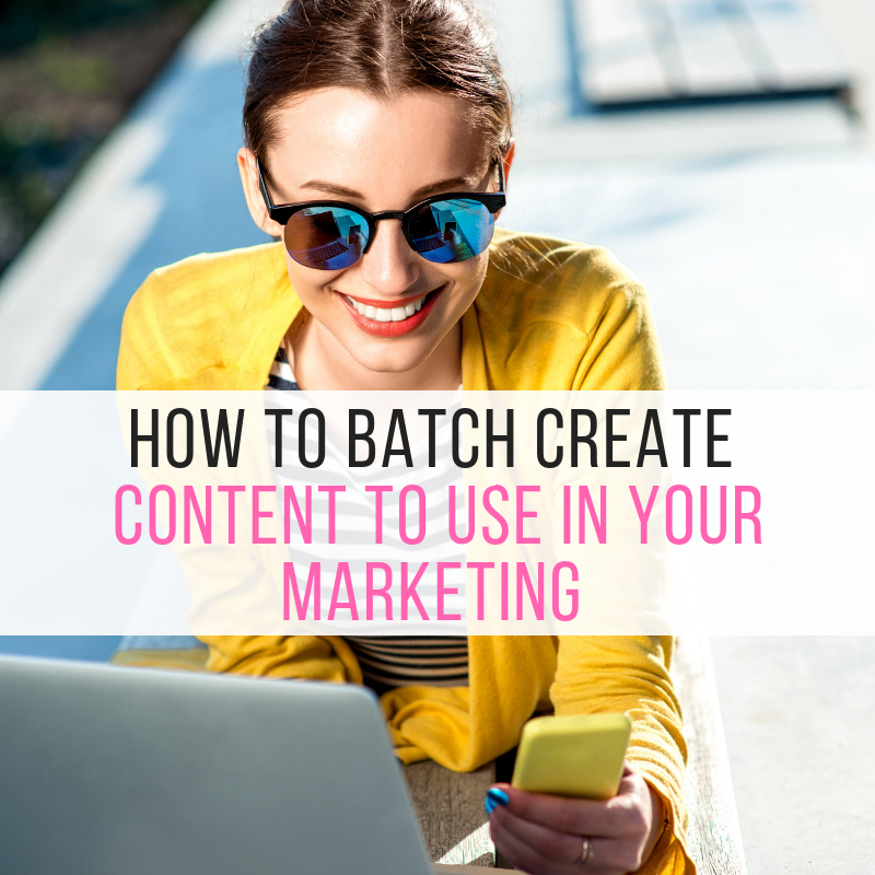 How to Batch Create Content to Use in Your Marketing